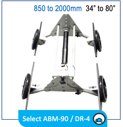 """Reduct ABM-90 DR-4 ID850 ID1000 6"""" 40"""" invert wheelset pipe mapping product"""