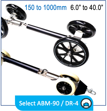 """Reduct ABM-90 DR-4 ID150 ID1000 6"""" 40"""" invert wheelset pipe mapping product"""
